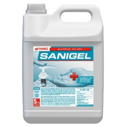 Alcohol en gel Sanigel x 5lts (ANMAT)