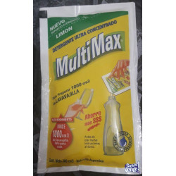 Detergente Multimax Limon - Sobre X 100 Ml